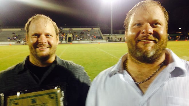 Former defensive tackles Andy and Chris Kagan, Fort Myers High Class of 1999, were inducted into the school's football Hall of Fame along with running back Essic Sanders (Class of 2000) and guard Dominik Basil (Class of 2009).