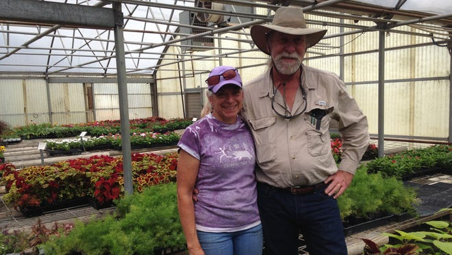 Joni and Chris Schatte are owners of Texoma Home and Garden in Vernon, a business that combines commerical and residential landscaping and spraying with a full service floral shop and plant greenhouse.
