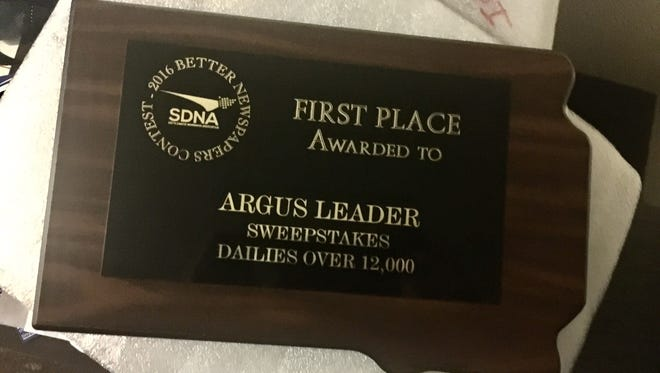 Argus Leader Media took home over 30 awards at the 2017 annual South Dakota Newspaper Association Contest in Aberdeen on April 28, 2017.