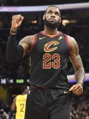 LeBron James poured in 45 points in Game 7.