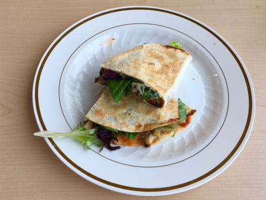 Buffalo Chickpea Toasted Piadini.