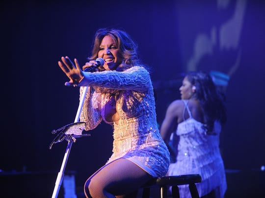 Toni Braxton With Andra Day - 2016 Grammy Park In Brooklyn at Kings Theatre on May 8, 2016 in the Brooklyn borough of New York City.
