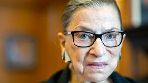 Supreme Court Justice Ruth Bader Ginsburg in her Supreme Court chambers in Washington on July 31, 2014.