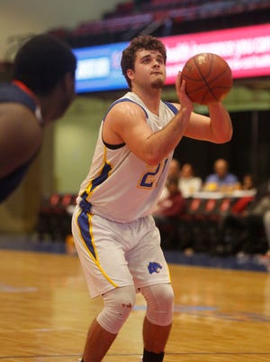 Ardsely's Sean Casey Julian McGarvey (21) takes a penalty shot during the game against Briarcliff at the challenge game at the18th Annual Slam Dunk Tournament at the Westchester County Center in White Plains on Dec. 28, 2016.