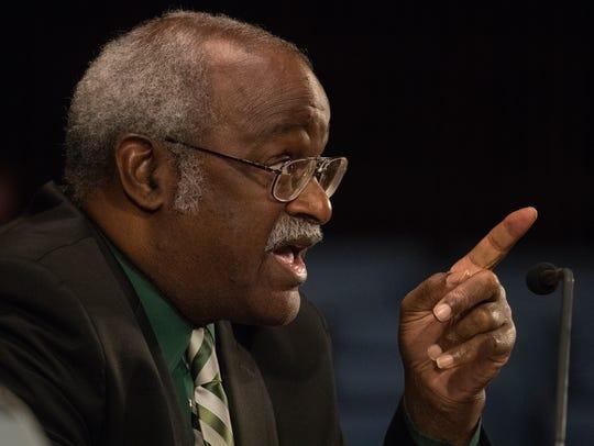 Wilmington Councilman Samuel L. Guy speaks Monday night