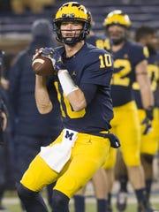 Michigan quarterback Dylan McCaffrey drew praise last