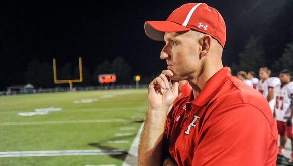 Franklin football coach Josh Brooks.