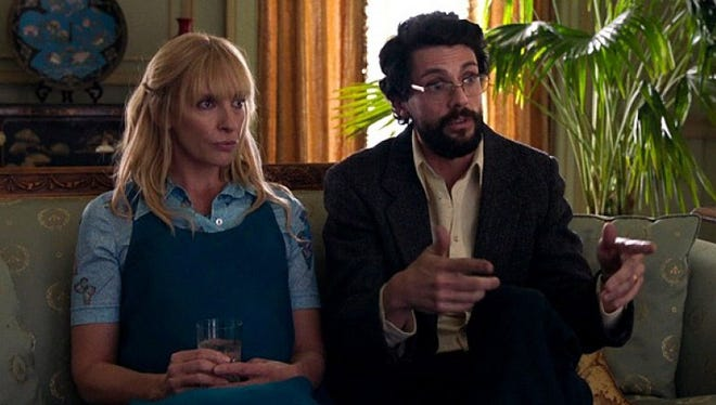 """Toni Collette and Matthew Goode star in the comedic """"Birthmarked."""""""