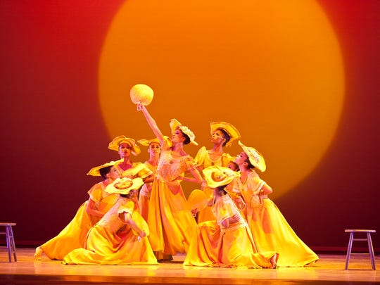"""Alvin Ailey American Dance Theater in Alvin Ailey's """"Revelations."""""""