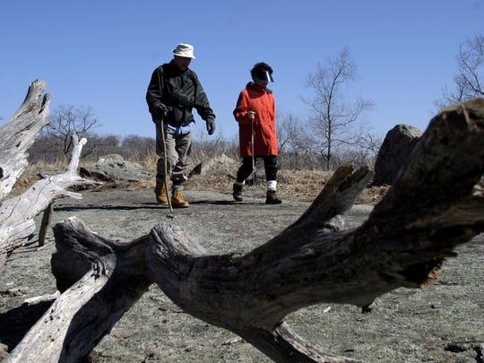 Hikers hit the trails for the annual First Day Hikes.