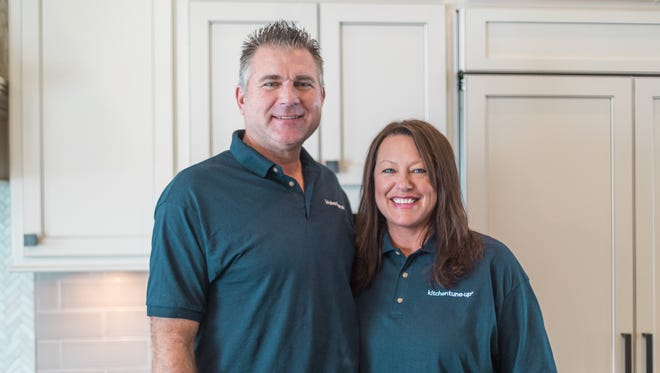 Steve and Susan Sneller of Harrisburg recently launched a Kitchen Tune-Up franchise, aiming to update kitchens in area homes.