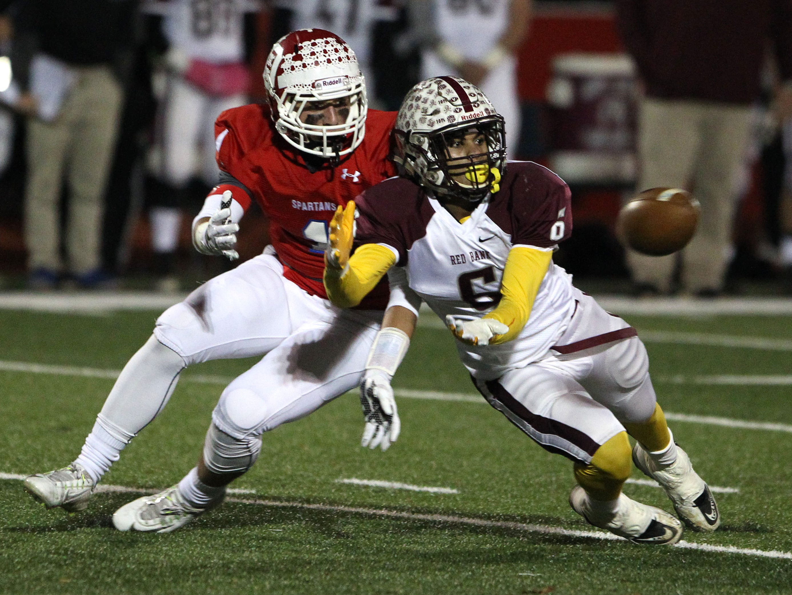 Talented senior wide receiver/running back/defensive back Sadiq Palmer (No. 6) has been a major reason .Red Bank Regional has been the Shore Conference's surprise team this season.