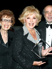 (left to right): Co-founder of The Desert Symphony Marilyn Benachowski, honoree Ruta Lee who is the first female presented with The Desert Symphony's prestigious Amadeus Award,  and Gary Berkson, music director of The Desert Symphony.