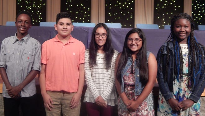 Posing from left are Korbin Eberhardt, Angel Castillo, Kimberly Segura, Melanie Guerrero and Myiah Davis.
