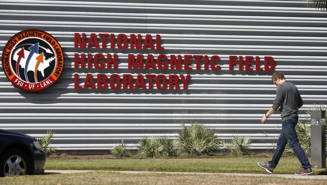 FSU's MagLab building in Iinnovation Park off of Lake Bradford Road, attracts 1,500 visiting scientists yearly.