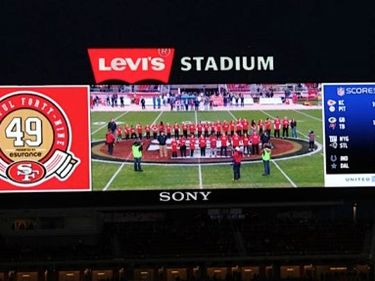 More than 40 competitors being honored on the Jumbotron at Levi's Stadium.