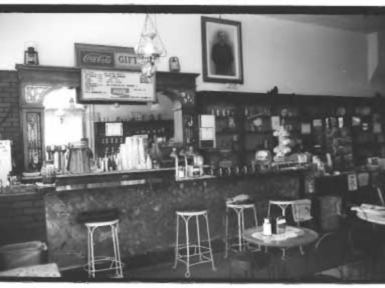 The interior of the Paden's Drugs building in Carrizozo.