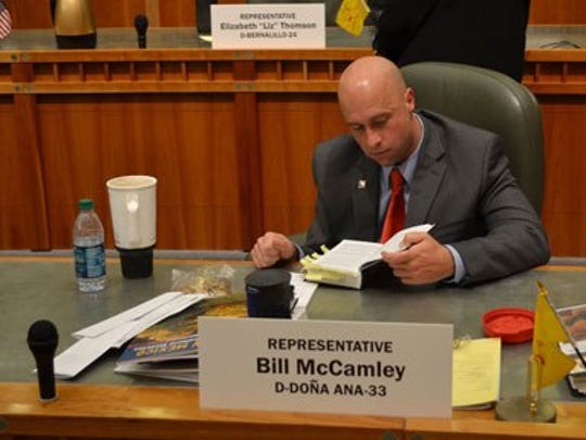Rep. Bill McCamley, District 33, at the New Mexico