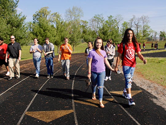 Kenwood High School students walk to raise funds for