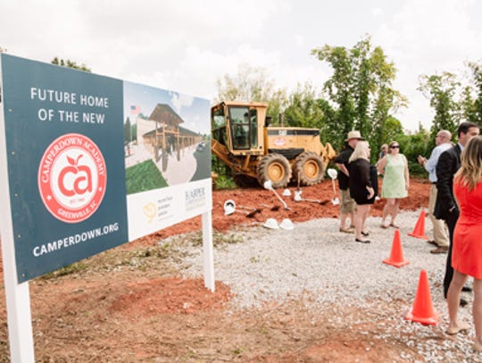 A groundbreaking was held at the site of Camperdown