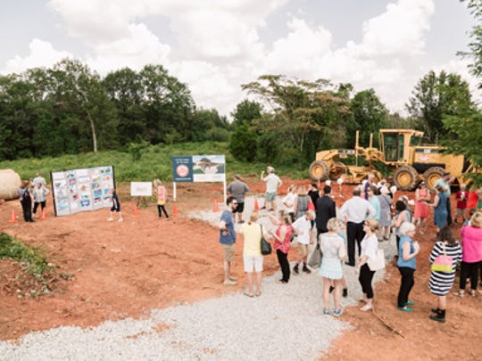 A groundbreaking was held at the site of Camperdown Academy's new home on Laurens Road in Greenville.