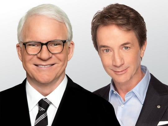 Steve Martin and Martin Short will perform at PNC Pavilion on Sept. 16. Tickets go on sale Friday.