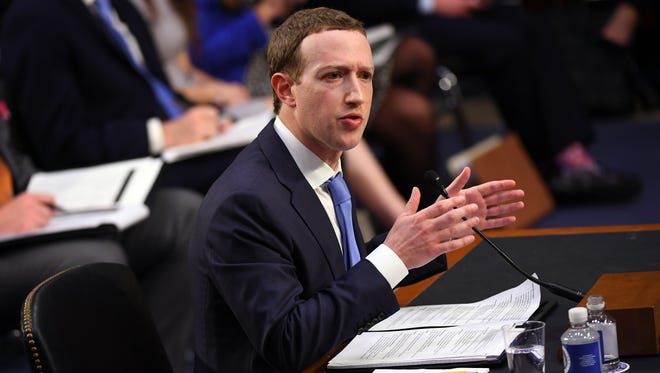 Facebook CEO Mark Zuckerberg testifies before a joint hearing of the Senate Committee on the Judiciary and the Senate Committee on Commerce, Science, and Transportation in Washington on April 10, 2018.