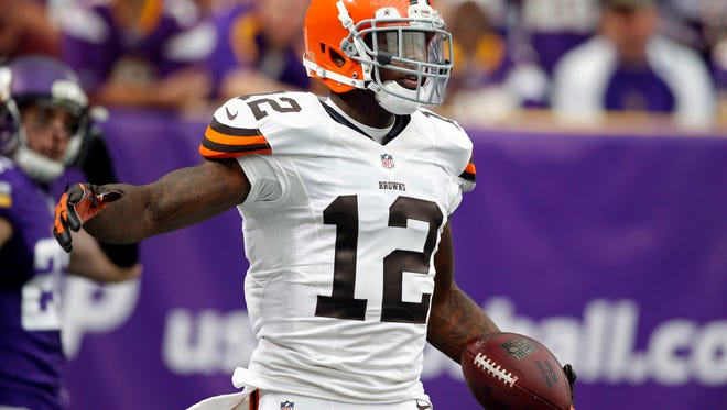 Suspended Browns WR Josh Gordon led the NFL with 1,646 receiving yards in 2013.