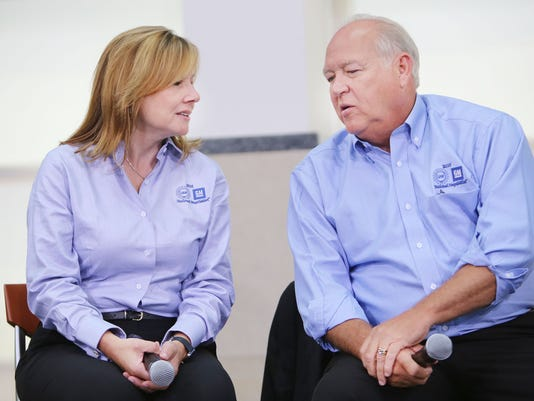 UAW President Dennis Williams and GM CEO Mary Barra