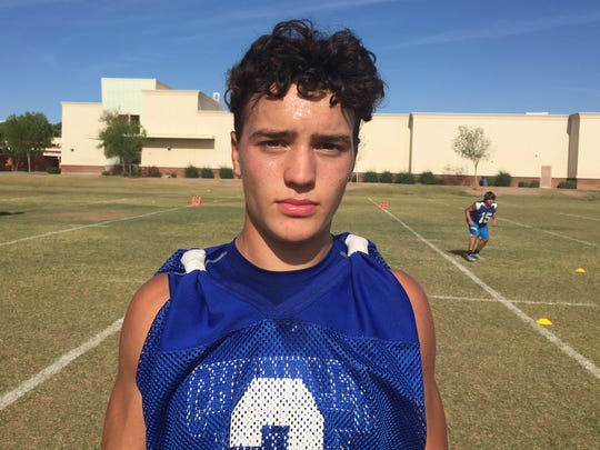 No. 9 Gunner Maldonado, Chandler, Athlete, 5-11, 180