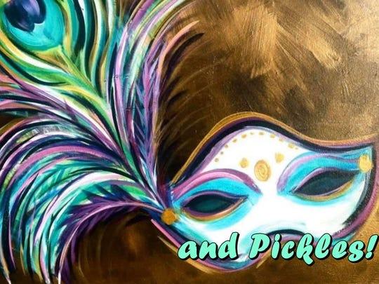 Mardi Gras painting