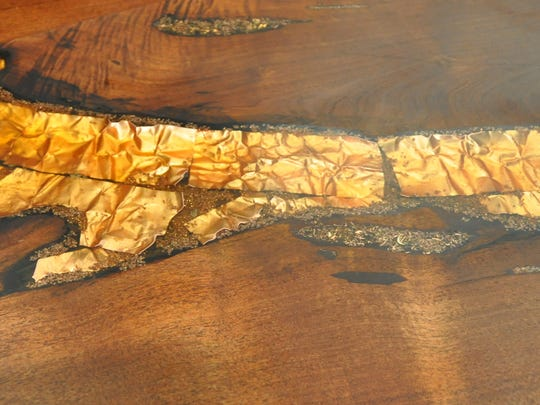 Copper, turquoise or coral can be chosen for custom inlay of furniture.