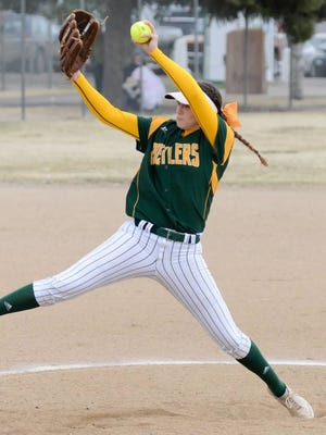 CMR's Madi Moore delivers a pitch during her sophomore season last year.