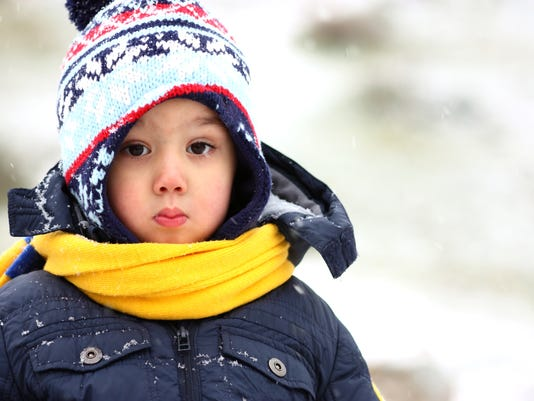 Winter Little boys Portrait Outdoor