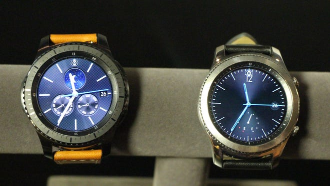 Samsung's new Gear S3 Frontier, right, and Gear S3 Classic, left.