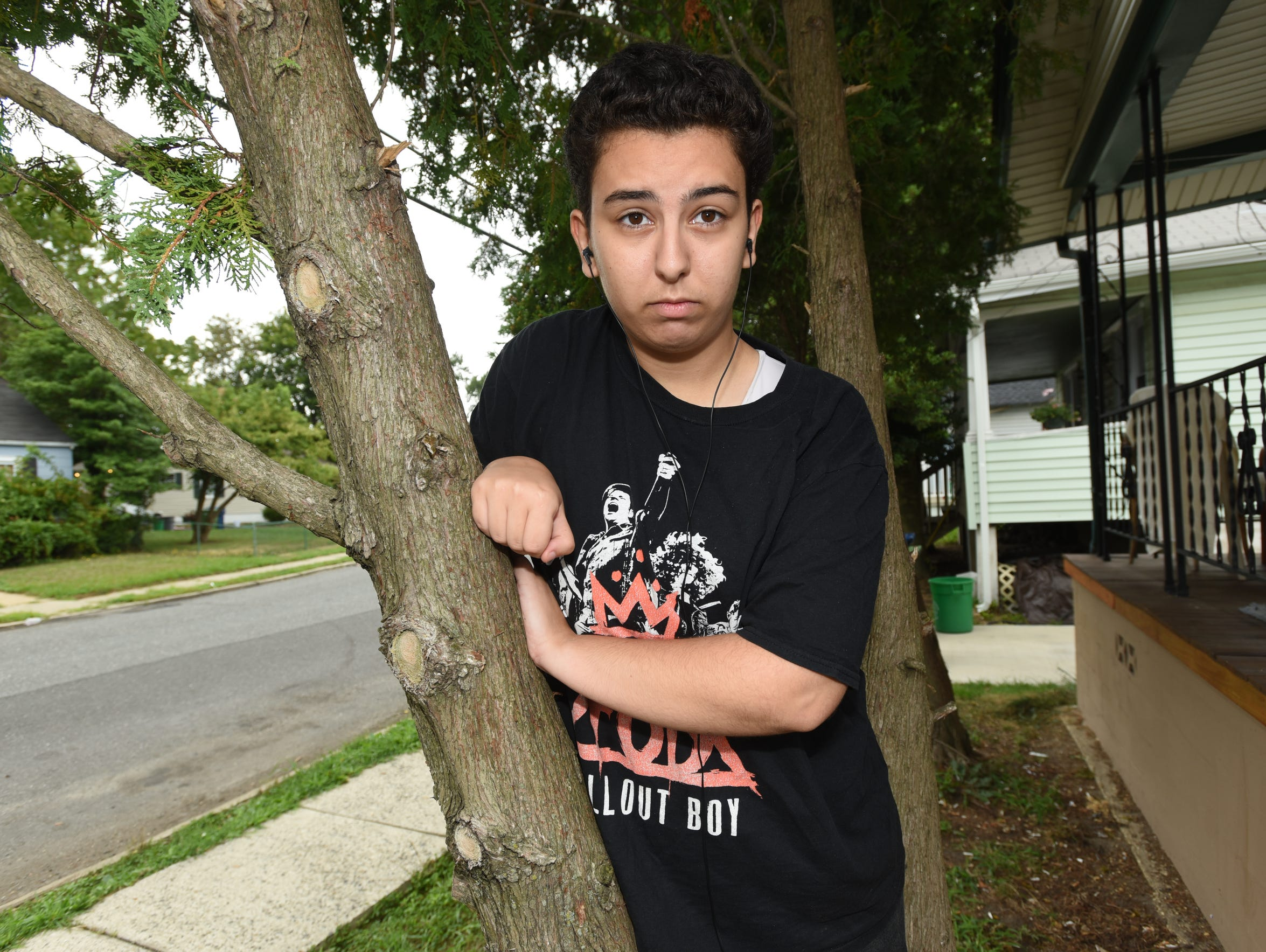 Jonah Elgamal, a 15-year-old transgender boy, attended