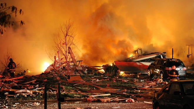 The Nov. 10, 2012, explosion leveled two homes and killed two people in the Richmond Hill subdivision on Indianapolis' Southeastside. About a dozen people were injured, and dozens of homes were damaged or destroyed.