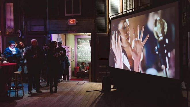 The November screening of Norwood Recording Co.'s Tonomono promotional video at the Southern Screen Film Festival Party at Feed & Seed in November.