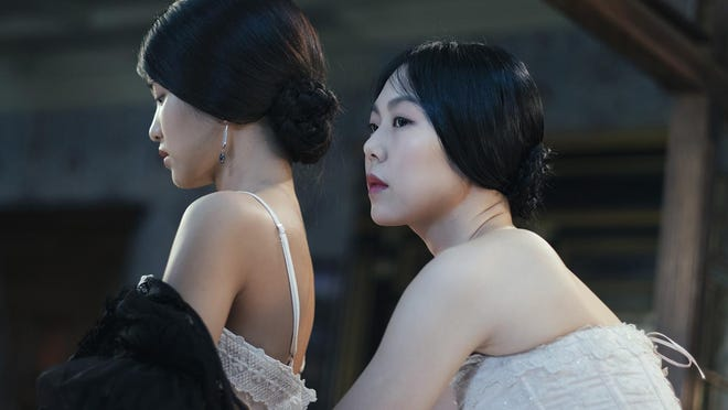 "Kim Min-hee (left) and Kim Tae-ri star in ""The Handmaiden."""