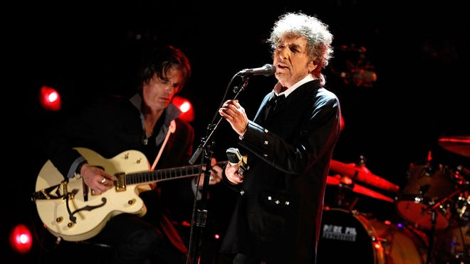 Bob Dylan onstage during the 17th Annual Critics' Choice Movie Awards held at The Hollywood Palladium on Jan. 12, 2012, in Los Angeles, Calif.