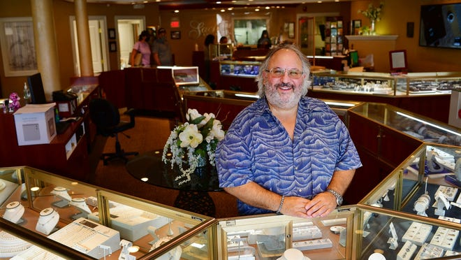 Karl Sachs at his Route 9 jewelry store Sachs Jewelers Thursday in Shrewsbury.