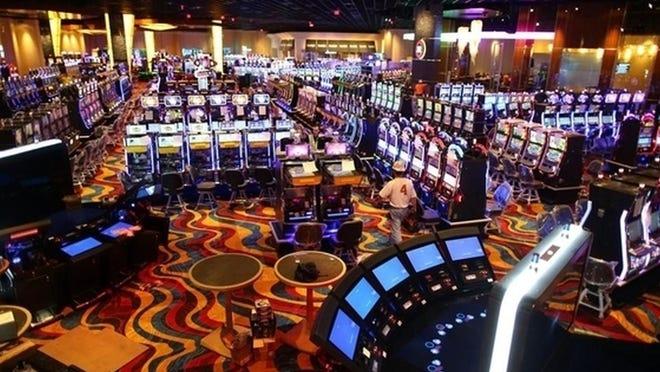The interior of Plainridge Park Casino in Plainville. [State House News Service File Photo]  ]