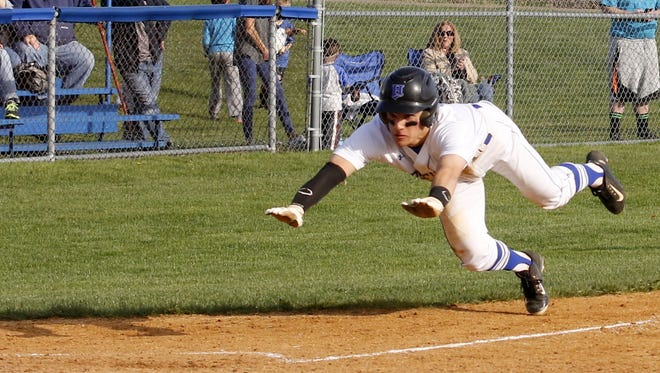 Action from Corning at Horseheads baseball.