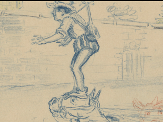 The Prince had help from his horse in these storyboards