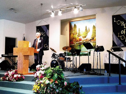 Tanner Thetford speaks at last year's Southwest Bible Conference. This year's event begins Friday at Indian Hills Baptist Church in Silver City. Courtesy Photo