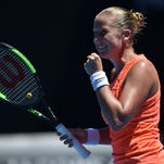 No. 4 seed Simona Halep falls to Shelby Rogers at Australian Open