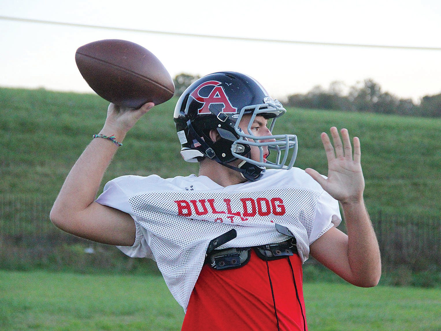 Columbia Academy senior quarterback Dylan Johnson passed for 2,264 yards and 27 touchdowns last season.