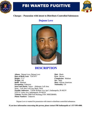 Dujuan Love wanted poster