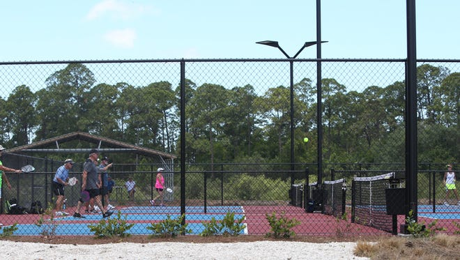 Eight new pickleball courts are open behind the Bonita Springs YMCA.