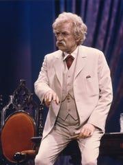 Hal Holbrook as Mark Twain.
